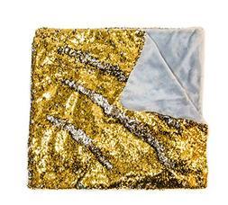 "KOVOT Sequin Mermaid Style Throw Blanket 50"" x 60"" - Reversi"