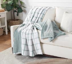 Berkshire Blanket Set of 2 Faux Fur Reverse to Sherpa Throw