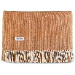 Sferra Celine Herringbone, 100% Cotton Throw Blanket - Papri
