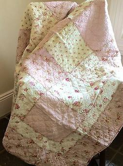 Shabby Chic French Country Throw Quilt Rug Blanket Large Pin