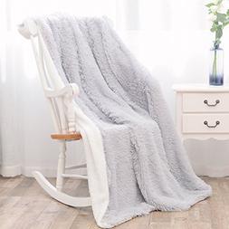BeSpring Shaggy Faux Fur Blanket Long Plush Super Soft Cuddl