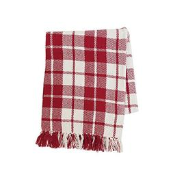 C&F Home Sheridan Plaid Red Throw Throw Red Plaid
