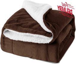 Bedsure Sherpa Blanket Brown Twin Size 60X80 Bedding Fleece