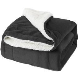 Bedsure Sherpa Blanket Fleece - King Size 108'' x 90''