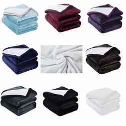 Sherpa Blanket Throw Bed Sherpa Fleece Throw Blanket All Siz