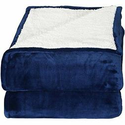 Utopia Bedding Sherpa Flannel Fleece Reversible Bed Blanket