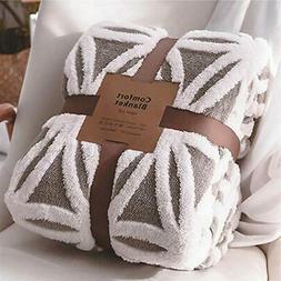 LOMAO Sherpa Fleece Blanket Fuzzy Soft Bed Blanket Dual Side