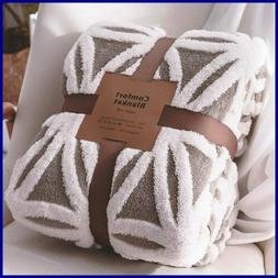 LOMAO Sherpa Fleece Blanket Fuzzy Soft Bed Dual Sided Throw