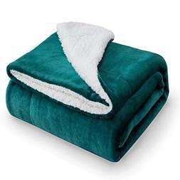 Bedsure Sherpa Fleece Blanket Throw Size Emerald Green Plush