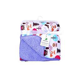 Genio Baby Sherpa Fleece Baby Blanket Unisex 30 x 40 Soft- P