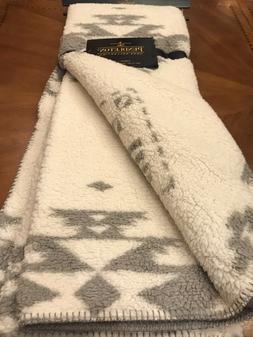 Pendleton Sherpa/Fleece Reversible  Throw Blanket