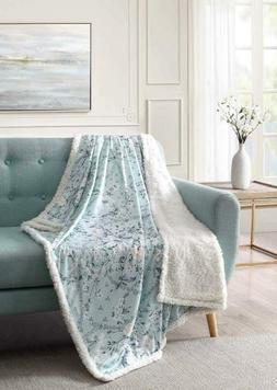 Bourina Sherpa Fleece Throw Blanket Printed Super Soft Fuzzy