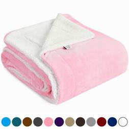 Kawahome Sherpa Luxurious Blanket, Super Warm Extra Soft Rev