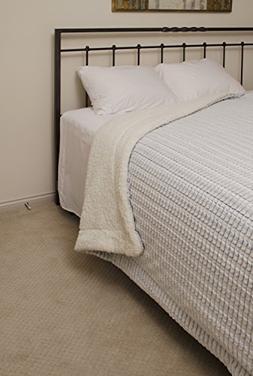 Regal Comfort Sherpa Luxury Checkered Pattern Throw