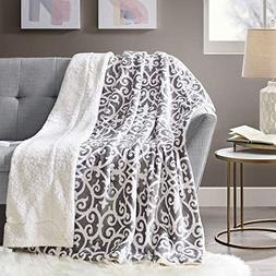 Comfort Spaces Sherpa/Plush Throw Blanket for Couch - 50 x 6