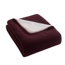 HYSEAS Sherpa Reversible Throw Blanket, Soft Fuzzy Throw, 50