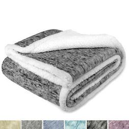 sherpa throw blanket for couch sofa twin