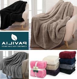 Sherpa Throw Blanket Fuzzy Fleece Plush Soft Warm Couch Faux