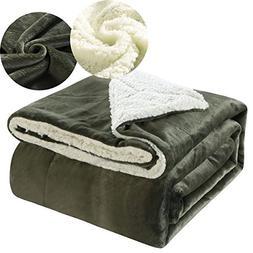 Ruikasi Sherpa Throw Blanket 100% Ultra Soft Microfiber Plus