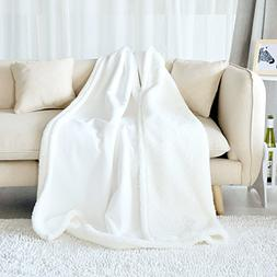 Fassbel Sherpa Throw Blanket Reversible Super Soft Lightweig