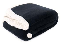 """SHERPA Fleece THROW BLANKET 40"""" x 50"""" Winter Warm Blankets"""