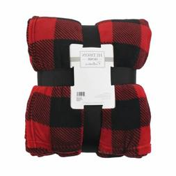 Hudson Home Collection Silky Plush Blanket, Buffalo Plaid