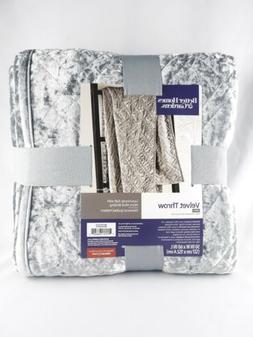 Silver Gray Velvet Throw Blanket Better Homes & Garden 50 X