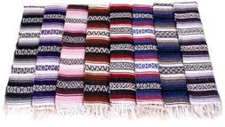 Six 6 Large Authentic Mexican Falsa Blanket Throw Yoga Mexic