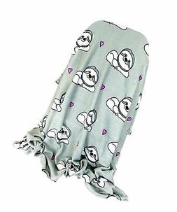 Warm & Snuggly Sloth Print Super Soft Throw Blanket 50x60
