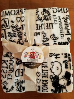 Snoopy Peanuts Wedding Marriage Berkshire Plush Throw Blanke