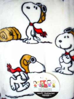 Snoopy Throw Blanket Charlie Brown Peanuts Red Baron Flying