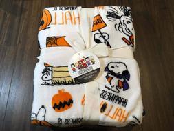 "New SNOOPY ""Great Pumpkin"" Halloween Soft Plush Fleece Throw"