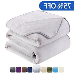 HOZY Fleece Blanket King Size Luxury Super Soft Warm Fuzzy M