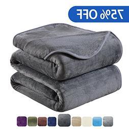 HOZY Soft Blanket Twin Size Fleece Warm Fuzzy Throw Blankets