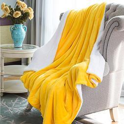HoroM Super Soft Sherpa Blanket Fleece Blanket Microfiber Re