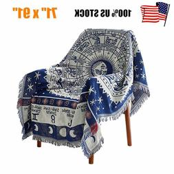 Soft Decorative Throw Blanket Warm Cover Fringe for Sofa Cou