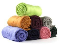 50 x 60 Inch Soft Wholesale Fleece Blankets - 24 Pack Assort