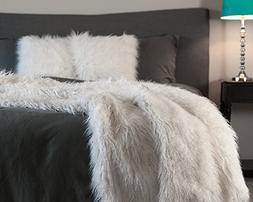 Chanasya Soft Shaggy Fuzzy Fur Long Mangolian Faux Fur Cozy