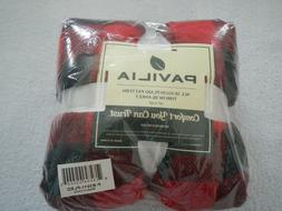 soft throw blanket black and red plaid