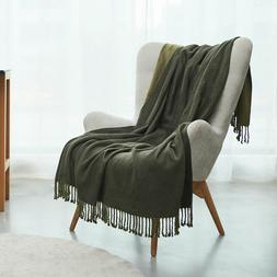 Lusm Soft Throw Blanket Cozy Bed Blanket Living Room Sofa Co