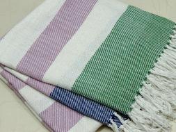 Homes Paradise Soft warm 100%  Cotton Throw 50X60 Inches Bla