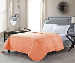 HollyHOME Solid Color Bed Quilt Spring Summer Coral Bedsprea