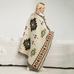 Southwest Native American Indian Navajo Print Throw Blanket