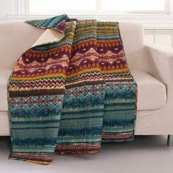 Southwest Throw Comfy Quilted Imported Greenland Home 100% C
