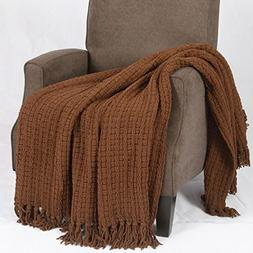 BNF Home Space Yarn Knitted Throw Couch Cover Sofa Blanket,