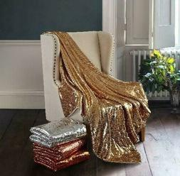 "Mainstays Sparkle Sequin Decorative Throw Blanket 50"" x 60"","