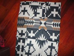 PENDLETON SPIDER ROCK LUXE BLACK RUST GRAY TRIBAL THROW BLAN