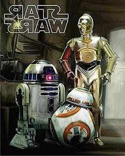 Disney Star Wars Droids R2-D2, C-3PO, and BB8 Super Soft Plu