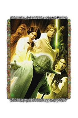 """Disney's Star Wars, """"Small Rebel Force"""" Woven Tapestry Throw"""