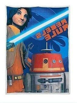 Star Wars Rebels Mink Sherpa Throw Blanket Wrap